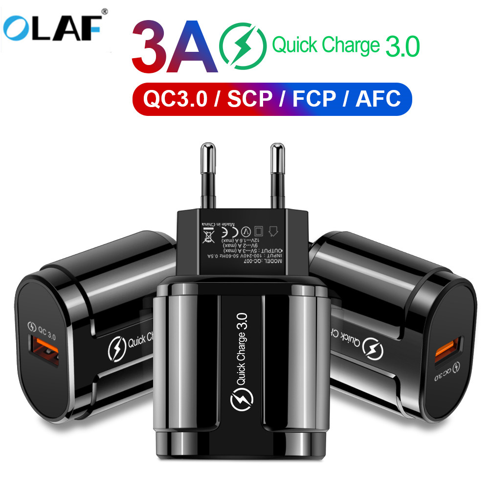 OLAF Plug-Adapter Mobile-Phone-Charger S6-Edge Huawei IPhone Samsung S7 Qc-3.0 USB