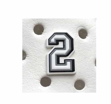 Original JIBZ เด็กของขวัญตัวอักษร noctilucence รองเท้าดอกไม้ของเล่นการ์ตูน PVC Beach รองเท้าอุปกรณ์เสริมสำหรับเด็ก