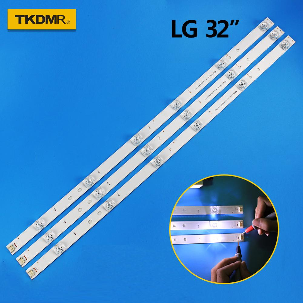 TKDMR 3pcs X TV LED Strips 6-lamps For LG 32