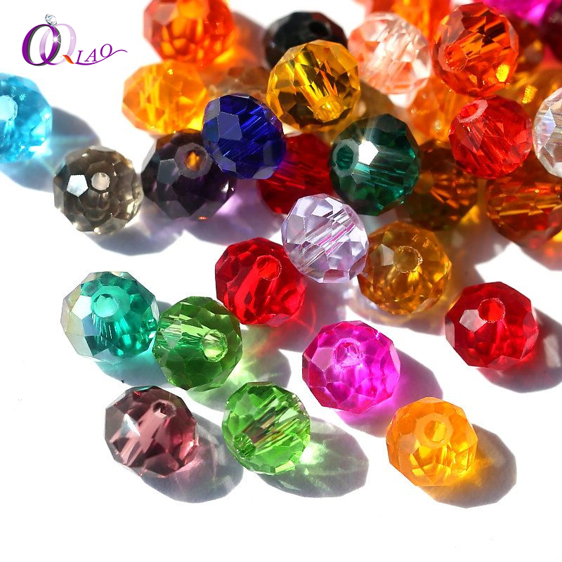 Buy 1 and Get 1 Free 4mm Glass Beads Round Crystal Beads Colorful Spacer Bead For Bracelet Jewelry Making DIY Total 300PCS(China)