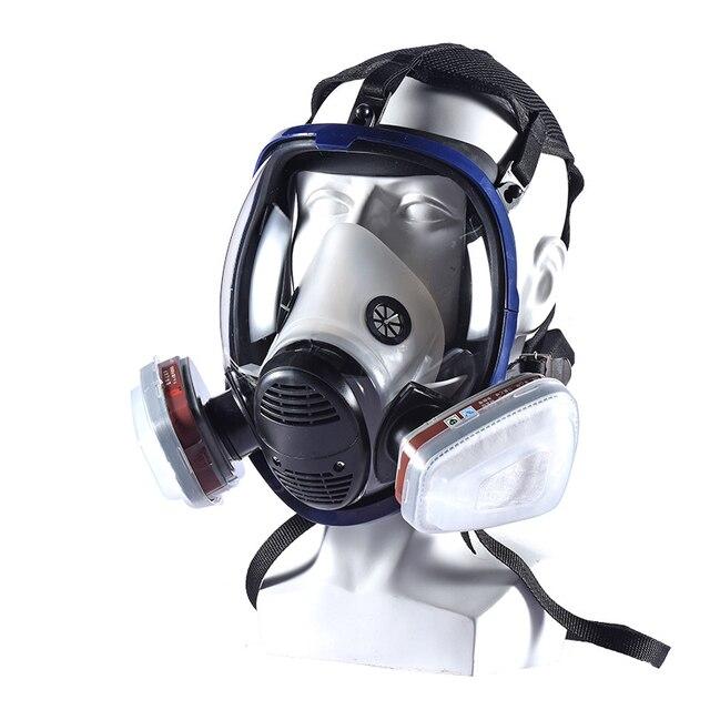 Фото полнолицевая маска для краски 6800 респиратор химическая с картриджем цена