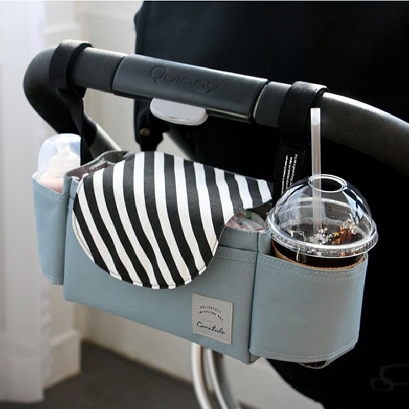Baby Stroller Accessories Organizer For Bottle Diaper Clothes Towels Cup Holder Bag Baby Carriage Trolley Pram Accessories Yoya