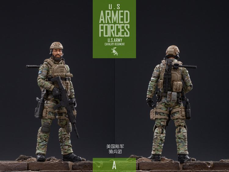 In Stock 1/18 Scale Collectible Solider US Army Cavalry Regiment Action Soldier Toys 5 Figures Set JTUS004 Model for Fans Gifts