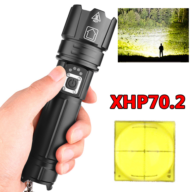 Led Flashlight Torch Power Bank 18650 Or 26650 Rechargeable Battery Bulbs Shock Resistant,Hard Light,Self Defense