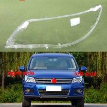 Ön farlar kapak şeffaf abajur far kabuk maskesi cam abajur için Volkswagen VW Tiguan 2009 2010 2011 2012