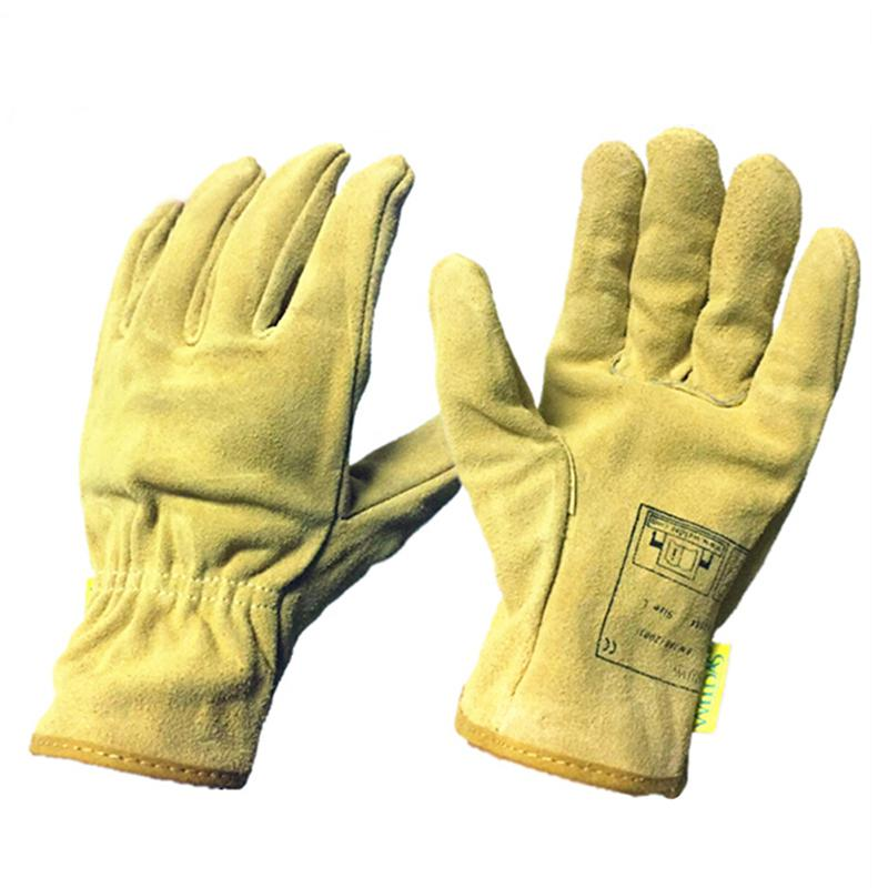Adult Electric Welding Gloves Wear Resistance Non-slip Working Driving Leather Gloves Unisex At Any Cost