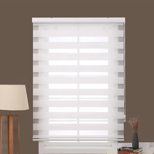 Window Shades Customized Size Double Layers Blackout Fabric Roller Zebra blinds For Home