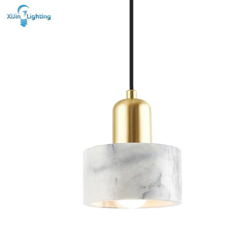 Modern Bedroom Beside Pendent Lights Marble Material Lamp For Living Room Home Lighting Designer Nordic Pendant Light Bar