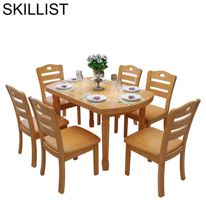 Eet Tafel Tavolo A Langer Tisch Yemek Masasi Dinning Set Shabby Chic Wooden De Jantar Mesa Comedor Desk Bureau Dining Room Table