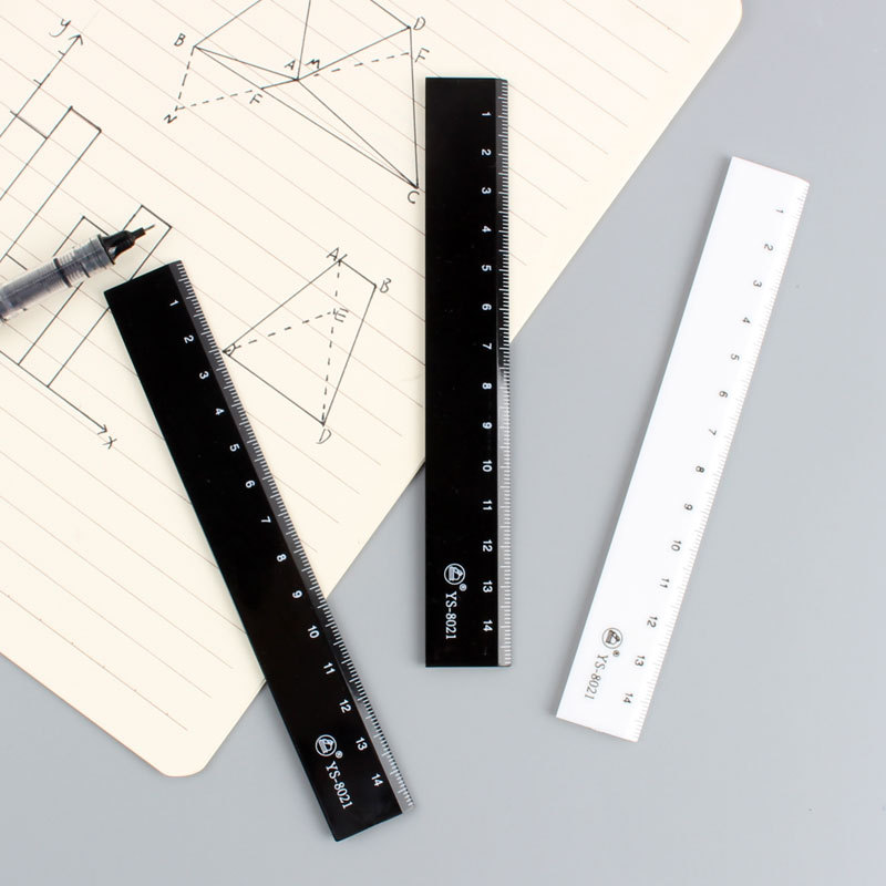 Simple Acrylic Exam Ruler 15cm Creative Hand Account Stationery Ruler Small Convenient Carriable Students Only