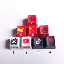 1 peça personalizado engrossado pbt corante sublimação tampa chave teclado mecânico keycap r4 altura oem perfil