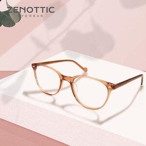 Image 2 - Zenottic Paars Retro Bril Frame Vrouwen Optische Clear Brillen Frame Bijziendheid Verziendheid Vintage Bril Frame