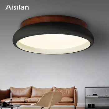 Aisilan LED Ceiling Light Nordic Style Lamp Living Room Lighting Fixture Bedroom Kitchen Foyer Wooden Surface Mount Lamp AC 220V - DISCOUNT ITEM  29% OFF All Category