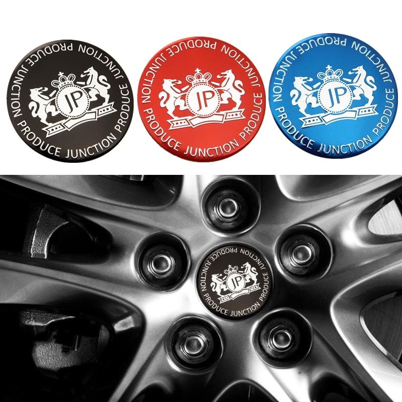 4Pcs 56.5mm Car Wheel Center Hub Cap Badge Emblem Sticker Fits for Land Rover