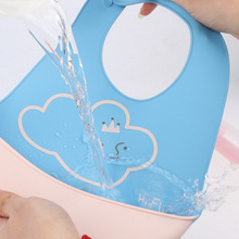 Adjustable Baby Scarf  Cute Print Waterproof Silicone Bibs Burp Cloths Slabbetjes Feeding Bavoir