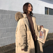 DUOUPA 2019 Winter New Fashion Womens Cotton Suit Long Section Large Fur Collar Down Jacket Trend Coat Bread Warm