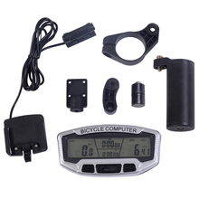 Bike LCD Backlight Automatic Wake-up Multifunctions Cycle Computer Wireless Plastic Bicycle Odometer Speedometer