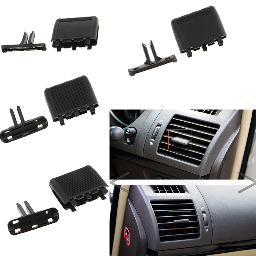 4PCS Auto Front A/C Air Vent Outlet Tab Clip Repair Kit For Toyota Prado, Easy Installation