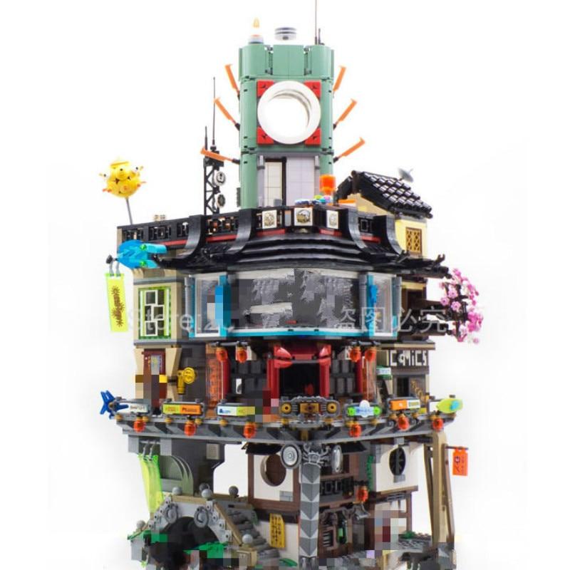 70620 Ninja City Ninja Movie 06066 Masters Of Spinjitzu Model 4953pcs Building Block Bricks Toys Children Gifts