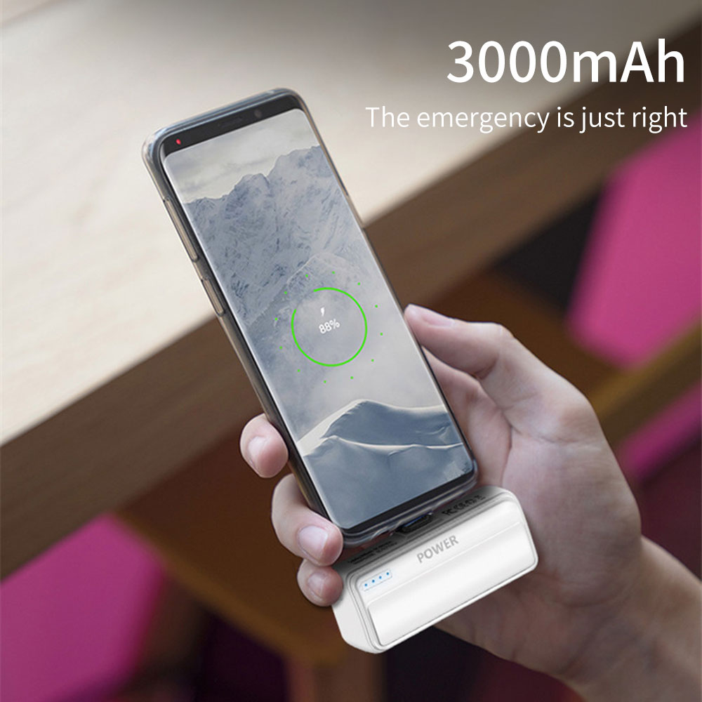 FLOVEME Mini Portable <font><b>Power</b></font> <font><b>Bank</b></font> For Phone Micro USB Type C <font><b>3000mAh</b></font> PoverBank For iPhone Battery Charger for <font><b>Xiaomi</b></font> mi Poverbank image