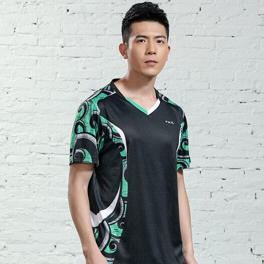 V-образная горловина, короткий рукав, форма для настольного тенниса, один топ для мужчин и женщин, летняя одежда для учеников средней школы, студентов средней школы - Цвет: A2625male1