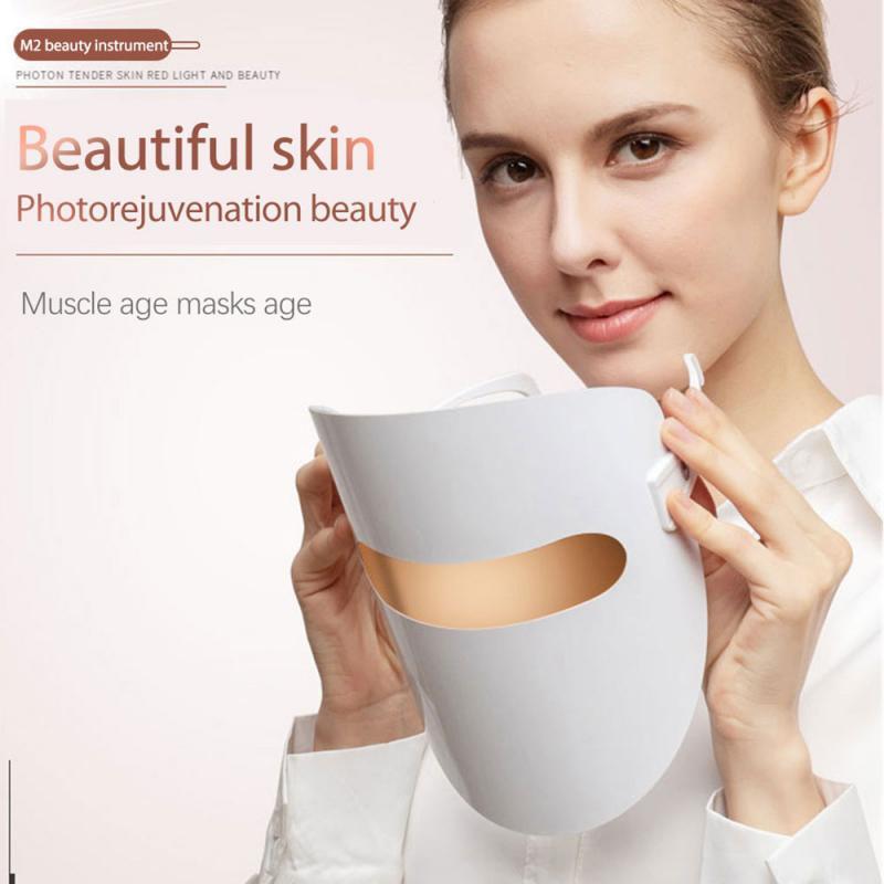 TPK Photon Skin Rejuvenation Instrument Led Facial Mask Light Therapy Acne Mask Women Daily Beauty Led Mask Face Skin Care Tool