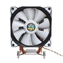 LANSHUO CPU เงียบพัดลมเดี่ยว 4 ความร้อนท่อ 4 ลวดอัจฉริยะอุณหภูมิควบคุมพัดลมระบายความร้อน CPU สำหรับ Intel LGA 2011 self Containe