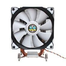 Lanshuo cpu サイレントシングルファン 4 ヒートパイプ 4 ワイヤーインテリジェント温度制御 cpu クーラーインテル lga 2011 自己 containe