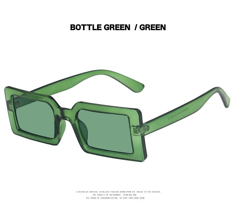 Fashion Sunglasses Designer Luxury Brand Rectangle Sunglasses Women Vintage Small 2021 trend Female Sun Glasses Shades For Women (12)
