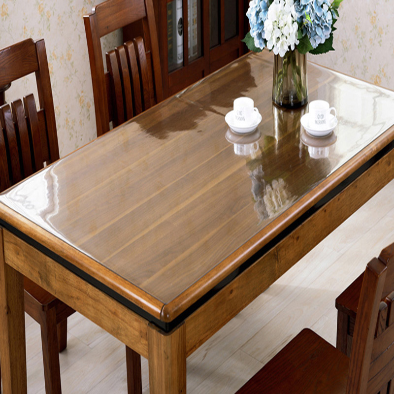Transparent PVC Tablecloth Waterproof Oil Tablecloth Plastic Tablecloth Crystal Soft Board Table Mat Glass Soft Cloth 1.0mm
