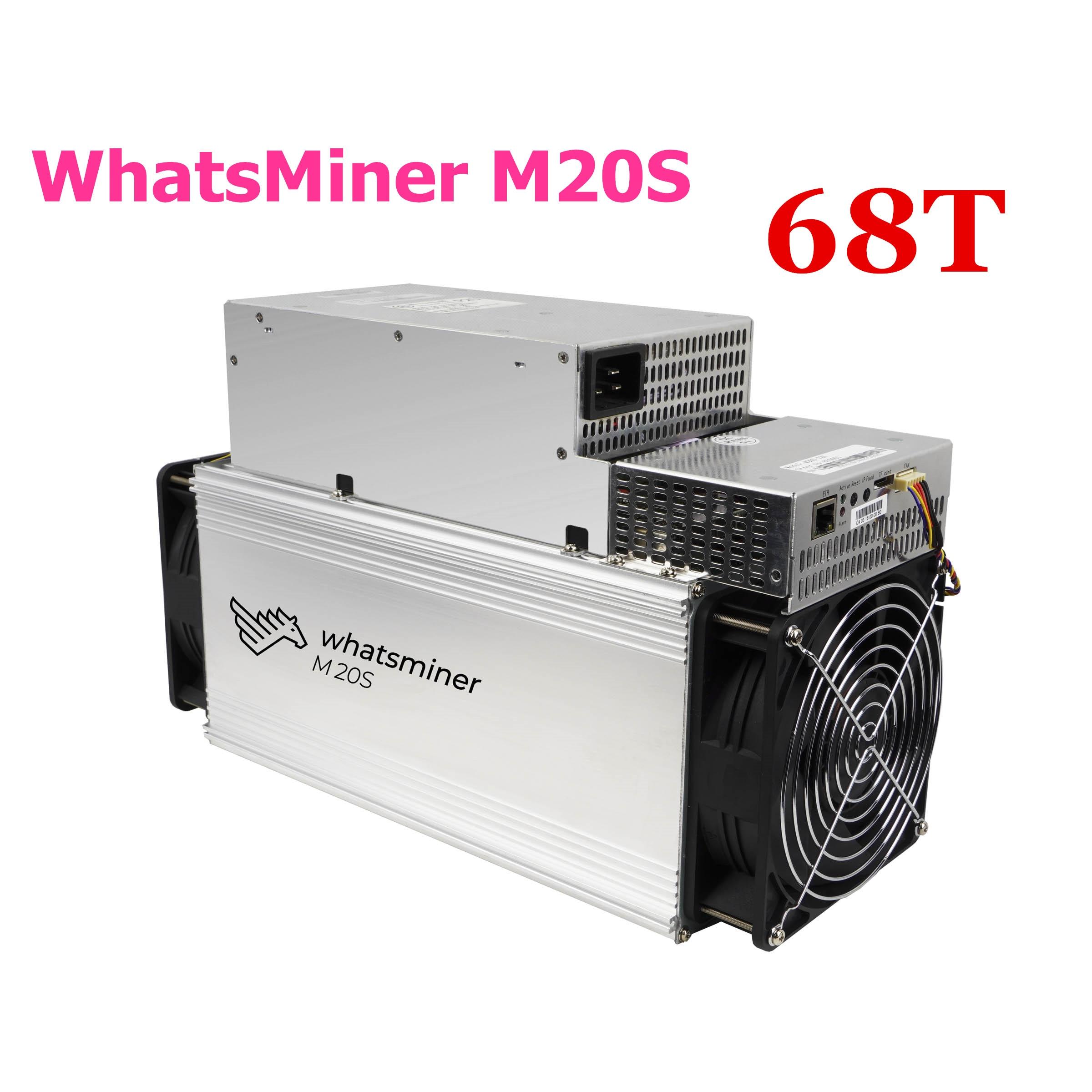 BTC BCH Miner WhatsMiner M20S 68T Bitcoin Miner With PSU Better Than WhatsMiner M3 M3X M21 M21S Antminer S9 T9+ S15 S17 T17 S17e