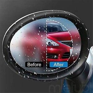 Image 3 - 2 pièces/ensemble Anti brouillard voiture miroir fenêtre Film transparent Anti éblouissement voiture rétroviseur Film protecteur étanche étanche à la pluie voiture autocollant