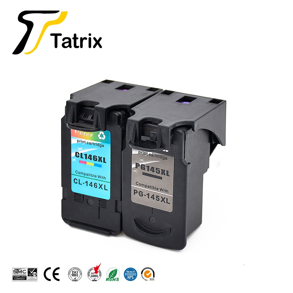 Tatrix PG145XL PG145 PG-145 PG 145 145XL CL146XL CL146 CL 146 146XL Remanufactured Ink Cartridge for Canon MG2410 PIXMA Printer image