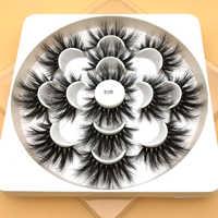 7 paires de faux cils naturels faux cils longs maquillage 3d cils de vison extension de cils cils de vison pour la beauté