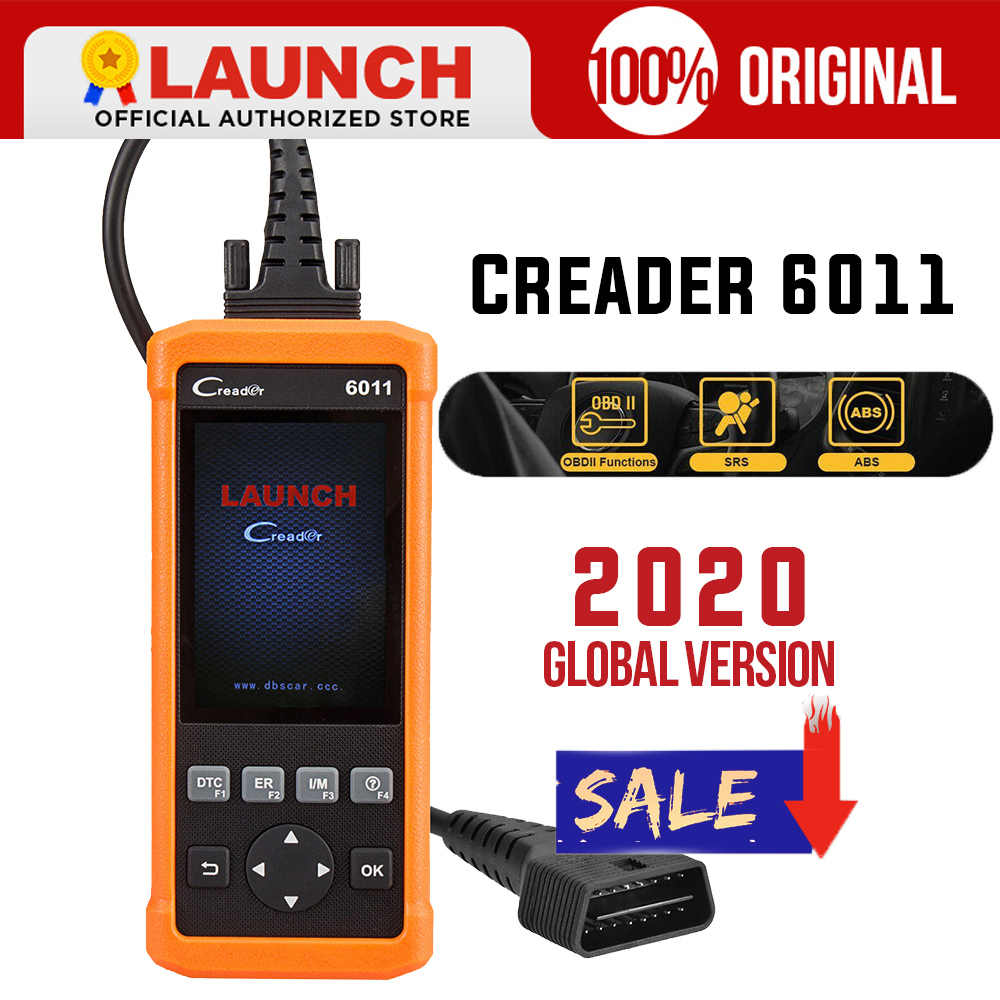 Starten creader 6011 CR6011 obdii diagnose scanner obd2 scanner motor ABS SRS automotive scanner live daten auto diagnose werkzeug