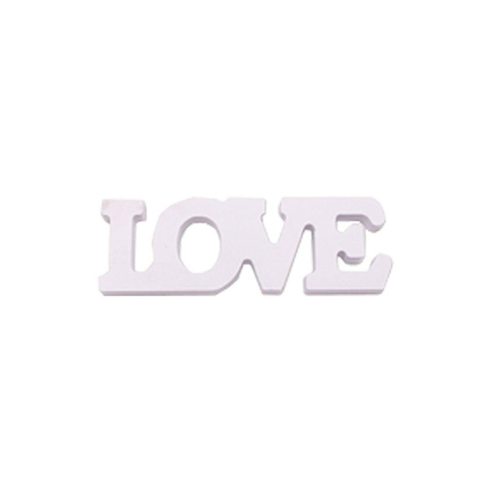 White LOVE Word Home Ornament