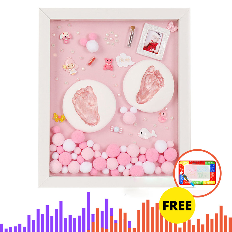 DIY Baby Hand Print Kit Baby Items For Newborns Baby Gift Kit Footprint Non-Toxic Clay Casting Kit Baby Keepsake Souvenirs