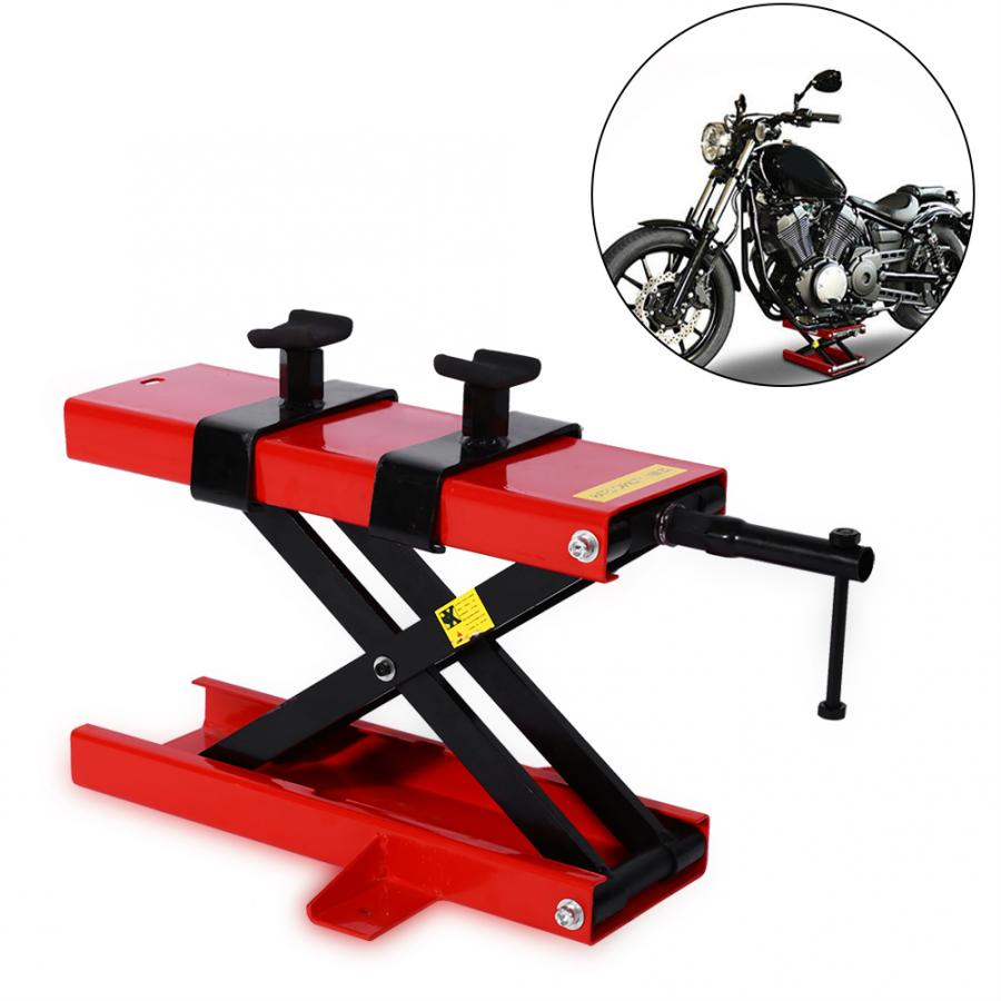 1set Motorcycle Motorbike Bike Stand Center Scissor Lift Hoist Workshop Bench 500KG Lifting Tools Domestic Delivery