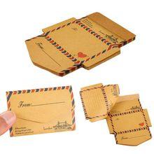 New Arrival 45 Sheets Vintage Creative Foldable Kraft Envelope Memo Pad Notes Message Paper Card Paperlaria Kawaii Stationery