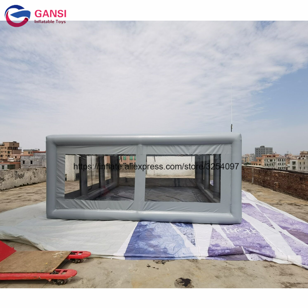 Outdoor private display stand transparent <font><b>car</b></font> <font><b>tent</b></font> 6x5m big inflatable <font><b>car</b></font> <font><b>garage</b></font> <font><b>tent</b></font> for wash image