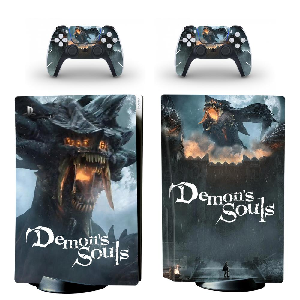 Demon's Souls PS5 Standard Disc Edition Skin Sticker Decal Cover for PlayStation 5 Console & Controller PS5 Skin Sticker Vinyl 1