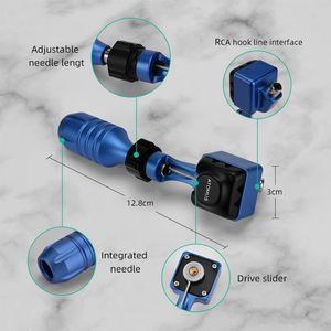 Image 4 - רוטרי קעקוע מכונת סט חזק שקט מנוע Shader אוניית מגוון מחסנית מחטי קעקוע גריפ מנוע אקדח קבוע איפור