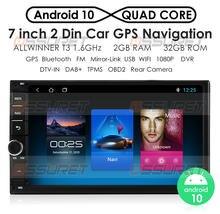 Hizpo – Autoradio Android 2 + 32, Navigation GPS, Bluetooth, WIFI, MirrorLink, 7 pouces, 2 din, lecteur multimédia stéréo pour voiture