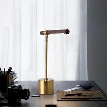 Современная настольная лампа деревянная кофейный деревянный
