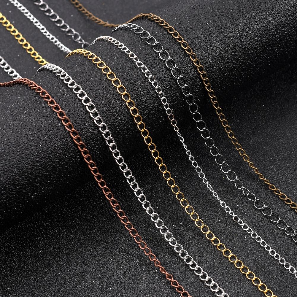 5 метров 2,5-4,8 мм с резным узором и длинным открытым Кольца Ссылка Diy аксессуары на расширение ожерелье цепочка удлинитель хвост цепи для изго...
