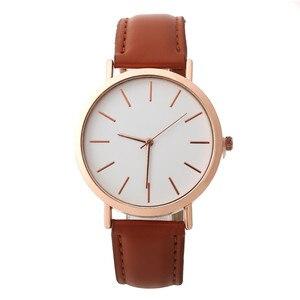 Image 3 - פשוט נשים שעון מזדמן סגסוגת נשים שעונים למעלה מותג יוקרה עור אנלוגי עגול קוורץ שעון יד Relogio שעוני יד
