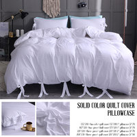 Bedding Sets Duvet Cover Pillow Case Bed Sheet Home Hotel 4 Size White Luxury New Gift