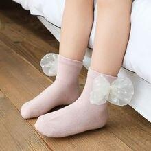 5 пар Осень зима новые детские носки кружевные аксессуары с