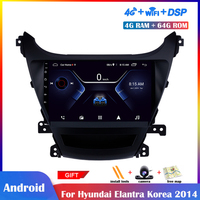 9 inch Android Multimedia Player For Hyundai Elantra Korea 2014 Car Radio Stereo Navigation DSP Touch IPS Screen Bluetooth