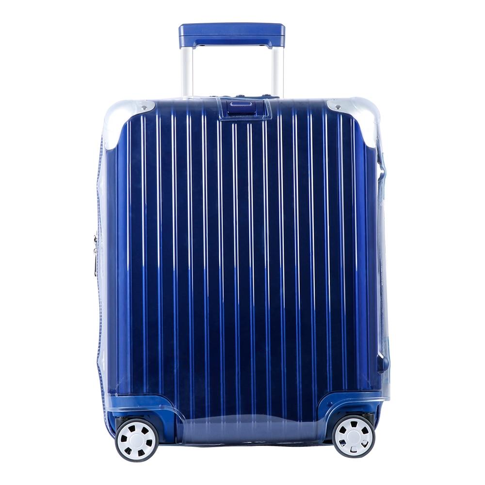 RainVillage Protetor tampas de bagagem Bagagem Mala Capa de PVC Transparente com fechamento com Zíper para o Limbo Rimowa
